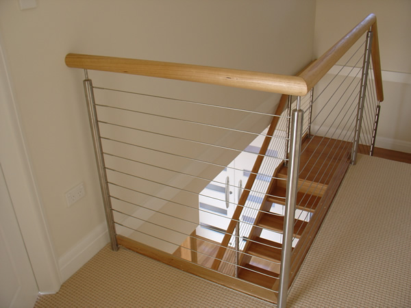 Charmant 5: An Open Rise Blackbutt Stair With Stainless Steel Posts And Cabling And  Blackbutt Handrails.